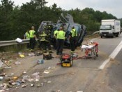 NH Couple Seriously Injured in I-93 SUV Rollover Accident